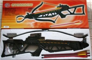 120 lb Draw Black Crossbow Rifle With Arrows
