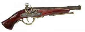 """New! - 15-1/2"""" Replica Flintlock Pistol With Stand"""