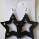 Star Studded Earrings Black