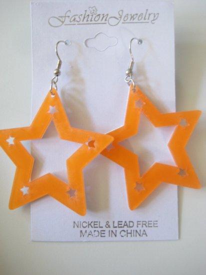 Star Studded Earrings Orange