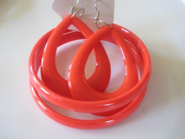 Red Bangles & Earring Set