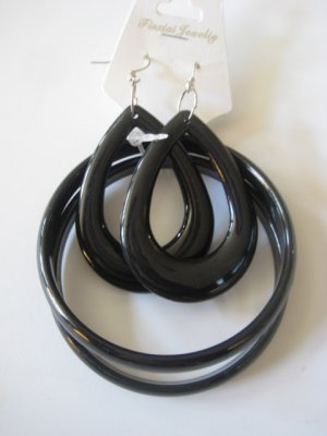 Black Bangles & Earring Set