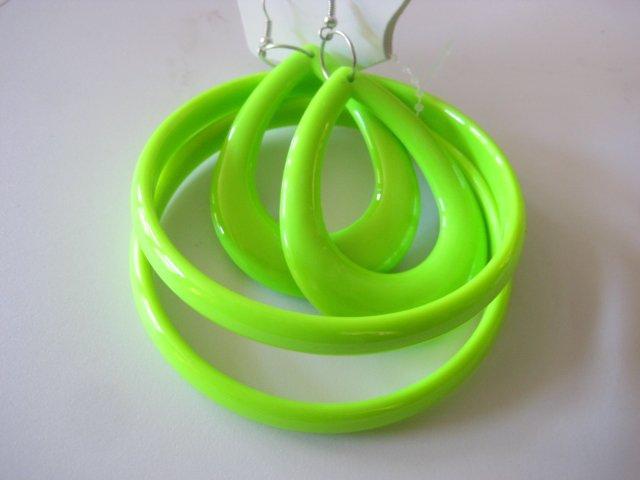 Lime Green Bangles & Earring Set