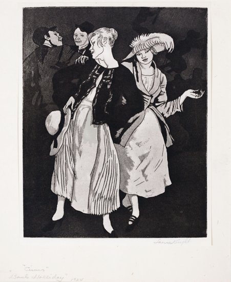 Circus, Bank Holliday, from the series Circus Prints, by Dame Laura Knight (British 1877-1970)