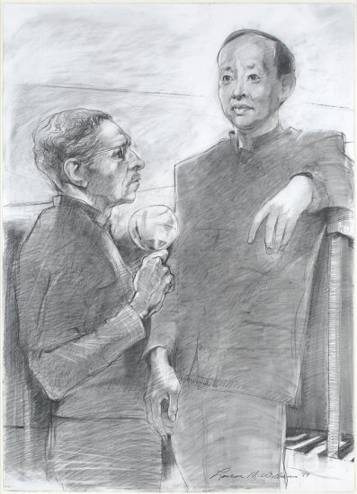 Portrait of Two Gentlemen, by Lawrence M. Williams