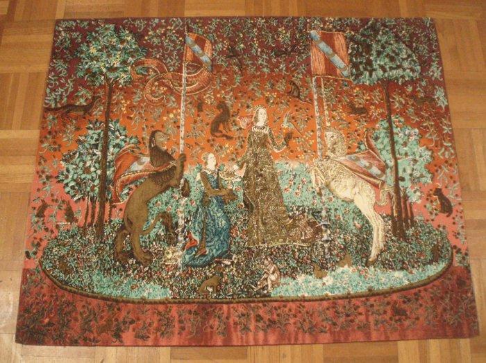 Royal French Tapestry DAME ALAI CORNE LEGOUT 32''X40'' women