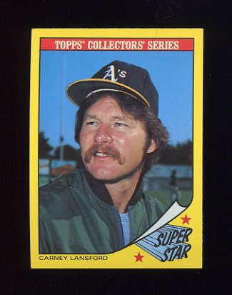 1986 Woolworth's Baseball #17 Carney Lansford - Oakland A's