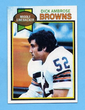 1979 Topps Football #157 Dick Ambrose - Cleveland Browns