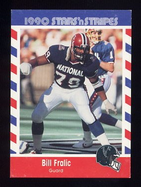 1990 Fleer Stars and Stripes Football #70 Bill Fralic - Atlanta Falcons