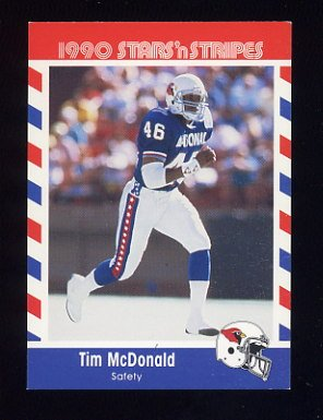 1990 Fleer Stars and Stripes Football #54 Tim McDonald - Phoenix Cardinals