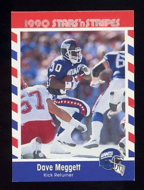 1990 Fleer Stars and Stripes Football #50 Dave Meggett - New York Giants