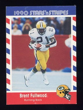 1990 Fleer Stars and Stripes Football #47 Brent Fullwood - Green Bay Packers