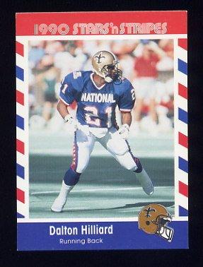 1990 Fleer Stars and Stripes Football #45 Dalton Hilliard - New Orleans Saints