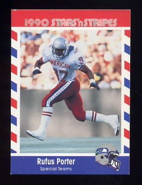 1990 Fleer Stars and Stripes Football #38 Rufus Porter - Seattle Seahawks