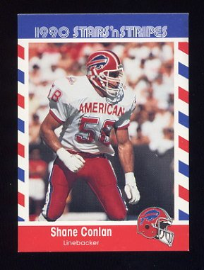 1990 Fleer Stars and Stripes Football #19 Shane Conlan - Buffalo Bills