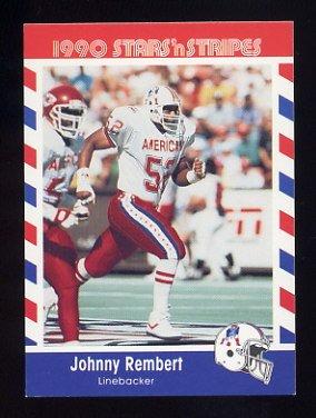 1990 Fleer Stars and Stripes Football #15 Johnny Rembert - New England Patriots
