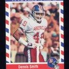 1990 Fleer Stars and Stripes Football #14 Dennis Smith - Denver Broncos