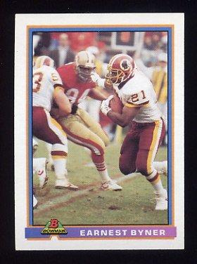 1991 Bowman Football #535 Earnest Byner - Washington Redskins