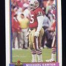 1991 Bowman Football #488 Michael Carter - San Francisco 49ers