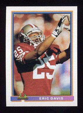 1991 Bowman Football #483 Eric Davis - San Francisco 49ers