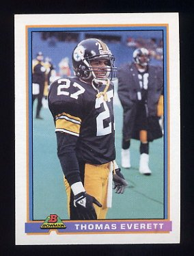 1991 Bowman Football #444 Thomas Everett - Pittsburgh Steelers