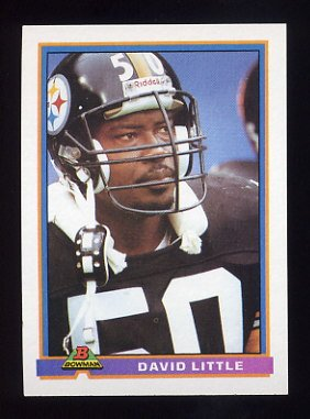 1991 Bowman Football #443 David Little - Pittsburgh Steelers