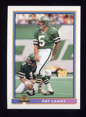 1991 Bowman Football #391 Pat Leahy - New York Jets