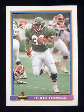 1991 Bowman Football #382 Blair Thomas - New York Jets