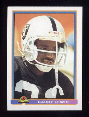 1991 Bowman Football #247 Garry Lewis - Los Angeles Raiders