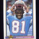 1991 Bowman Football #190 Ernest Givins - Houston Oilers