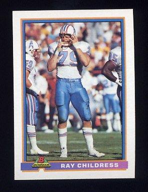 1991 Bowman Football #188 Ray Childress - Houston Oilers