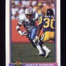 1991 Bowman Football #182 Curtis Duncan - Houston Oilers