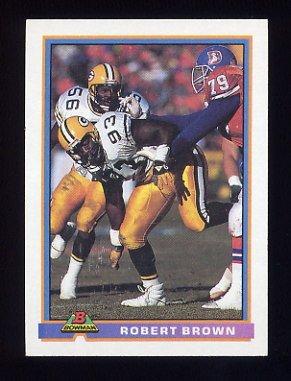 1991 Bowman Football #173 Robert Brown - Green Bay Packers
