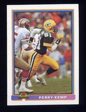 1991 Bowman Football #161 Perry Kemp - Green Bay Packers