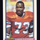 1991 Bowman Football #128 Simon Fletcher - Denver Broncos
