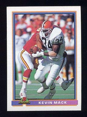 1991 Bowman Football #092 Kevin Mack - Cleveland Browns