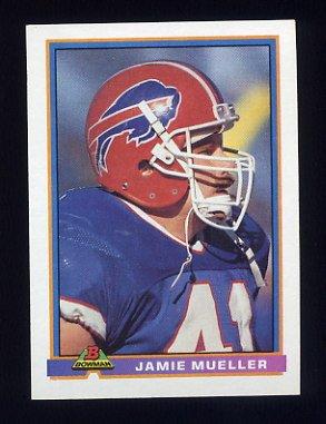 1991 Bowman Football #033 Jamie Mueller - Buffalo Bills