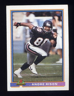 1991 Bowman Football #012 Andre Rison - Atlanta Falcons
