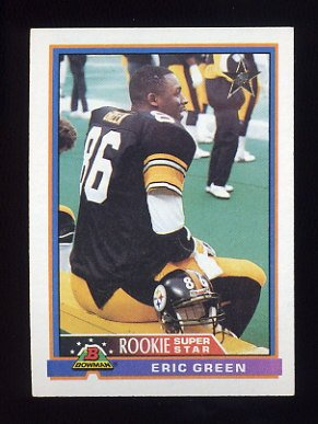 1991 Bowman Football #009 Eric Green - Pittsburgh Steelers