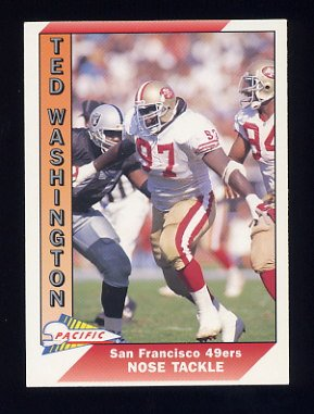 1991 Pacific Football #645 Ted Washington RC - San Francisco 49ers
