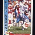1991 Pacific Football #587 Mike Dumas - Houston Oilers