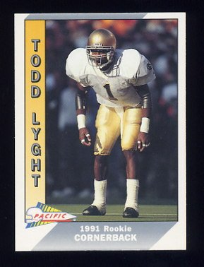 1991 Pacific Football #550 Todd Lyght RC