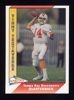 1991 Pacific Football #513 Vinny Testaverde - Tampa Bay Buccaneers