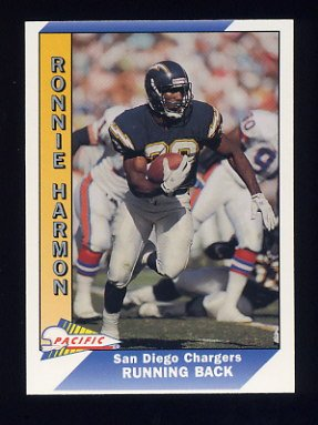1991 Pacific Football #446 Ronnie Harmon - San Diego Chargers