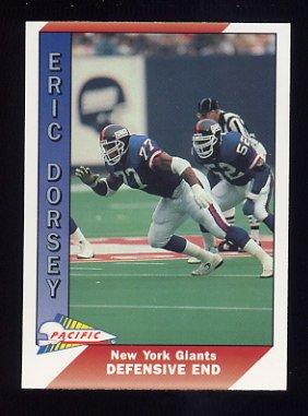 1991 Pacific Football #344 Eric Dorsey - New York Giants