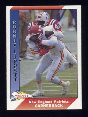 1991 Pacific Football #309 Ronnie Lippett - New England Patriots