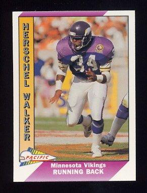 1991 Pacific Football #299 Herschel Walker - Minnesota Vikings