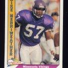 1991 Pacific Football #294 Mike Merriweather - Minnesota Vikings
