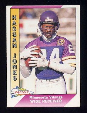 1991 Pacific Football #289 Hassan Jones - Minnesota Vikings