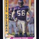 1991 Pacific Football #287 Chris Doleman - Minnesota Vikings